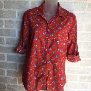 Fun vintage floral shirt. Large by Koret Blues